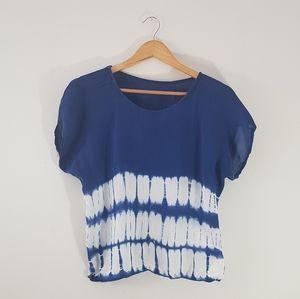 🌼 Indigo shibori tie-dye top